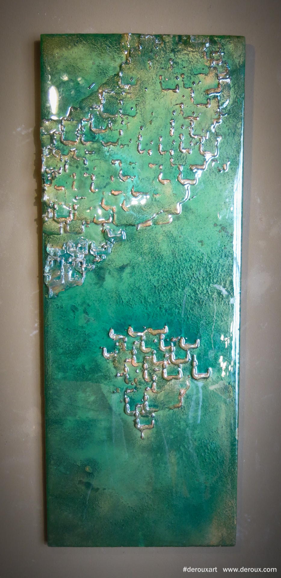 Unveiled , Cast resin, mixed mediums on panel. 2009