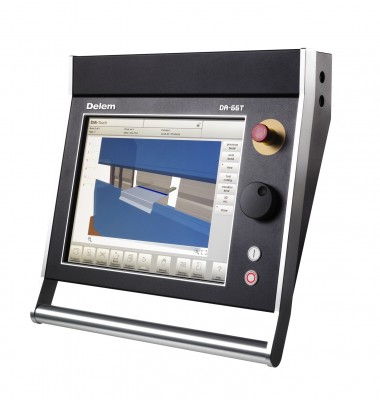 The Delem DA 66T, a highly functional and advanced CNC hydraulic press brake control.