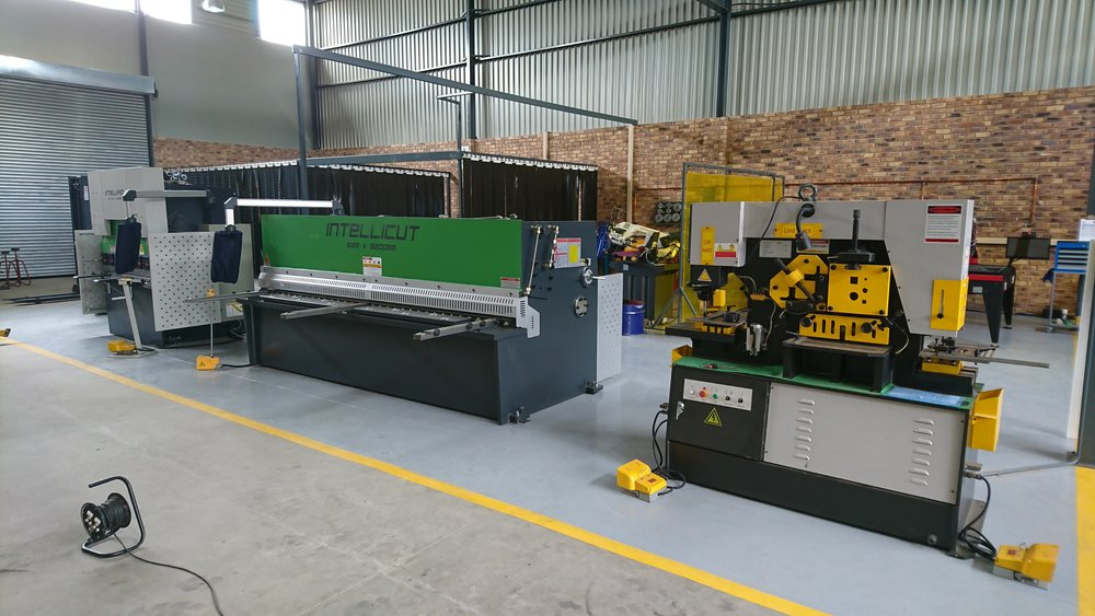 PQj's IntelliFab, IntelliCut and Versacut machinery takes pride of place on the floor.