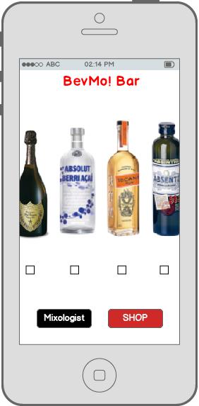 BevMo! consumer iPhone application BevMo! Bar contents