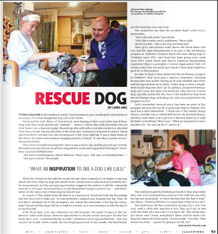 Pittsburgh CityPaper - Lulu Rescue Canine Story