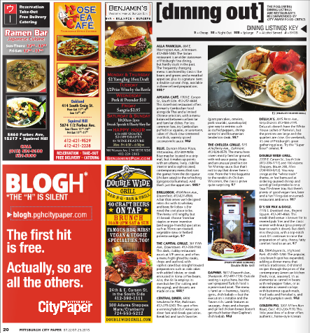 Pittsburgh CityPaper - Dining Feature