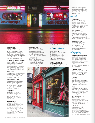 Pittsburgh City Guide 2015