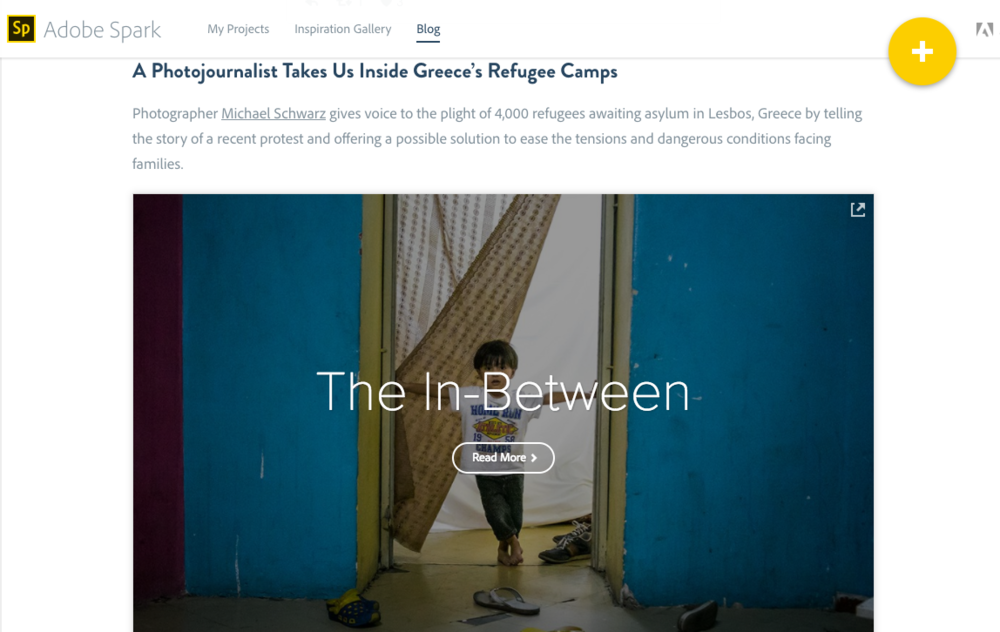 "Adobe Spark - ""The In-Between"" - A Refugee Story"