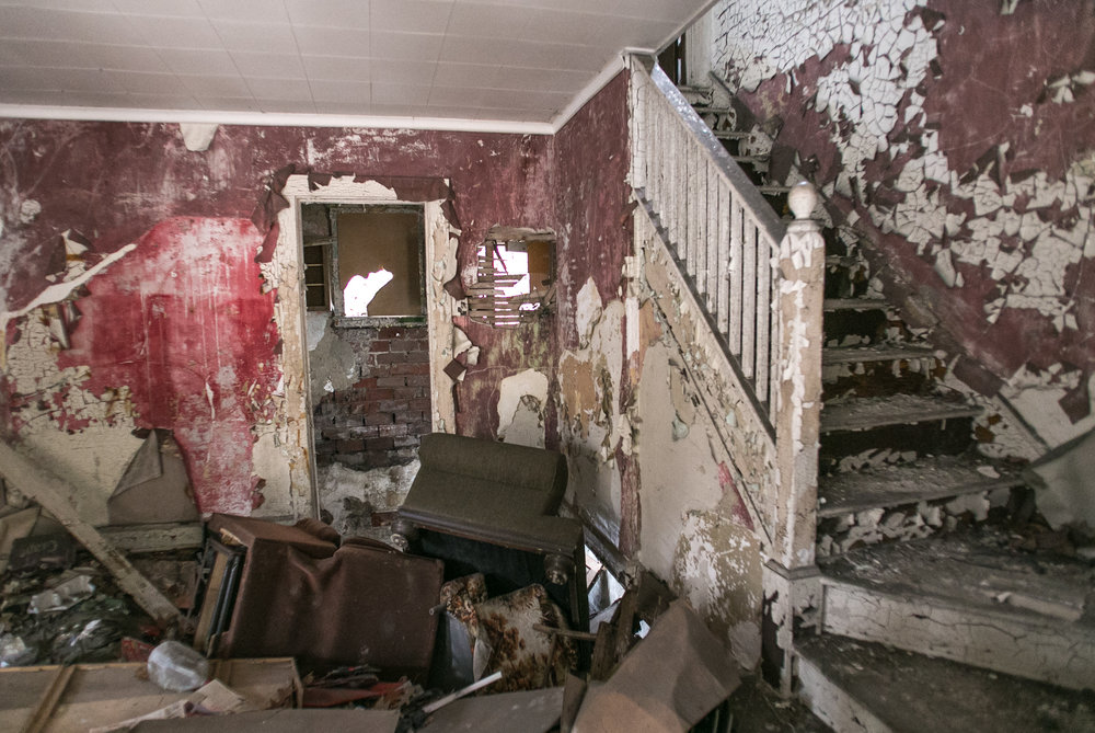 Collapsed Living Room - Lincoln Way - Clairton, PA