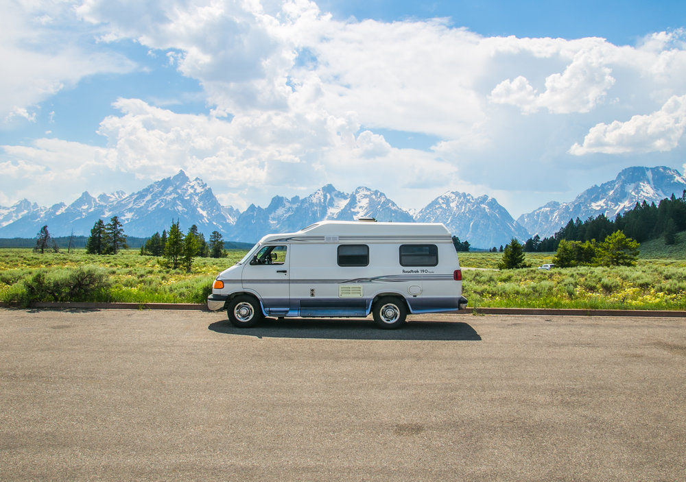 The van in all her glory - Grand Teton National Park, WY