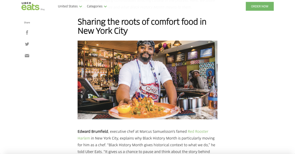 Chef Ed - Red Rooster - Black History Month Feature - Uber