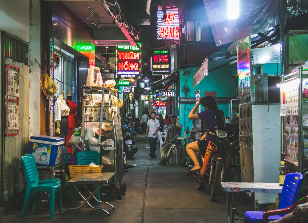 An alleyway deep in the Ben Thanh district of Ho Chi Minh. This was far and away my favorite aspect of this city. Here, in the dimly lit rib cage of Ho Chi Minh, you can find the best food, cheapest markets, and most interesting people.