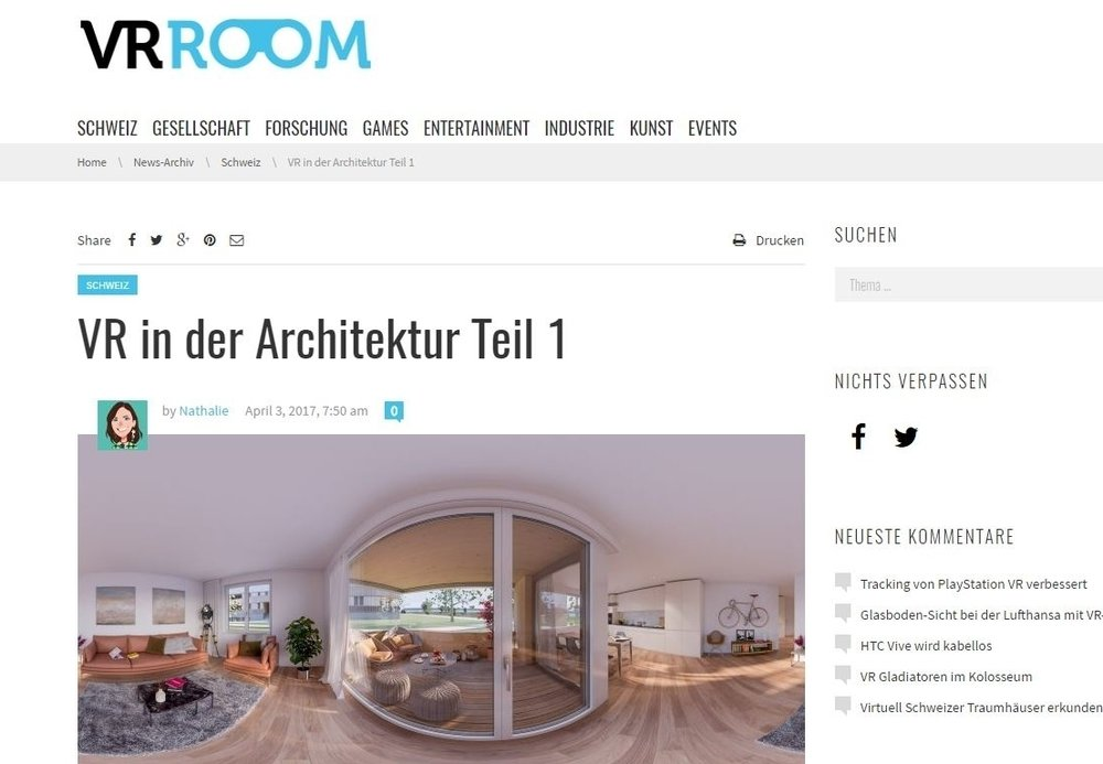 Bericht über Dome Visual auf vr-room.ch - TEIL 1