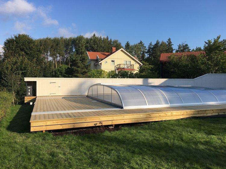 120 m2 Poolaltan och skyddande plank