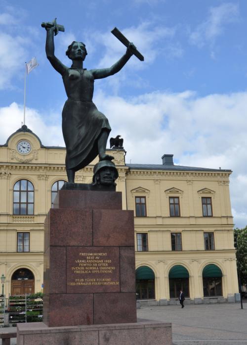 Fredsmonumentet i Karlstad.