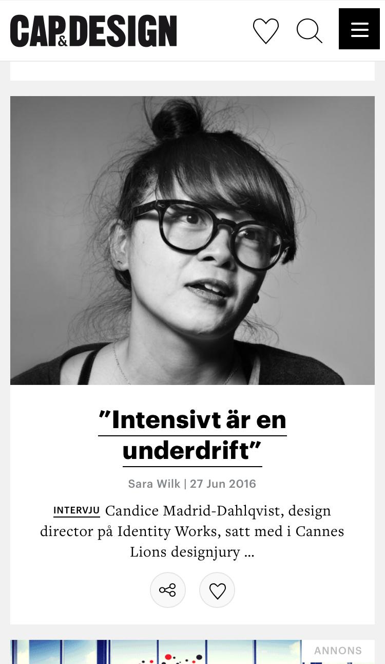 Cap&Design är en tidskrift och sajt helt dedikerad till grafisk formgivning! Given strandläsning för en aspirerande designer :)