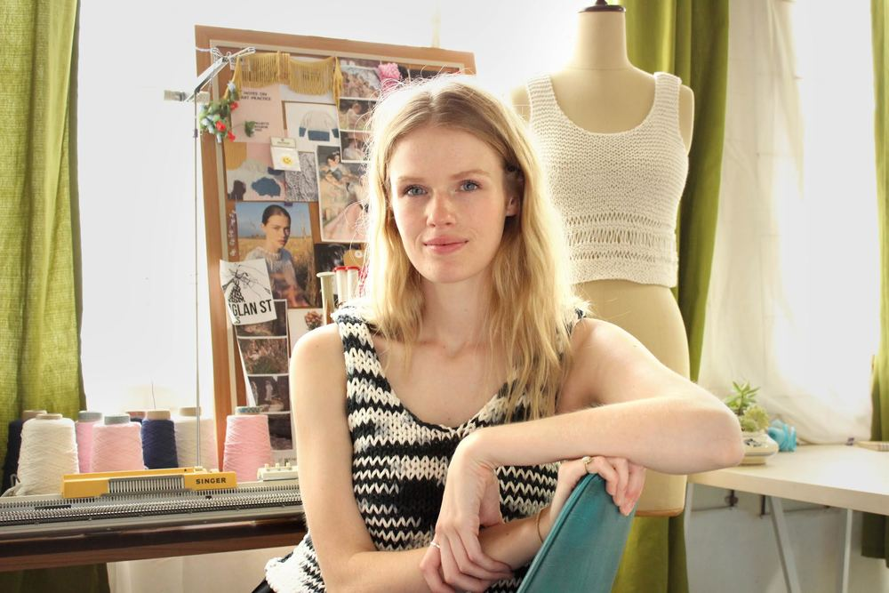 Caitlin in her studio