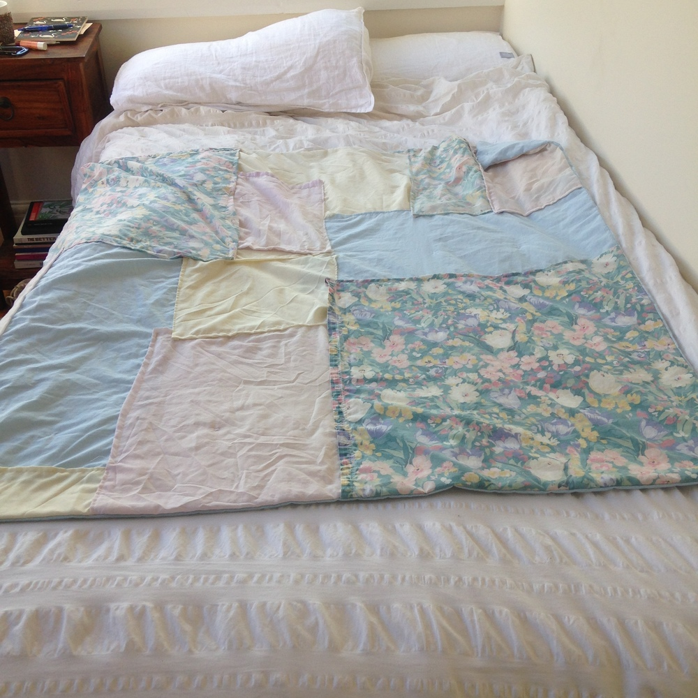 quilt on bed