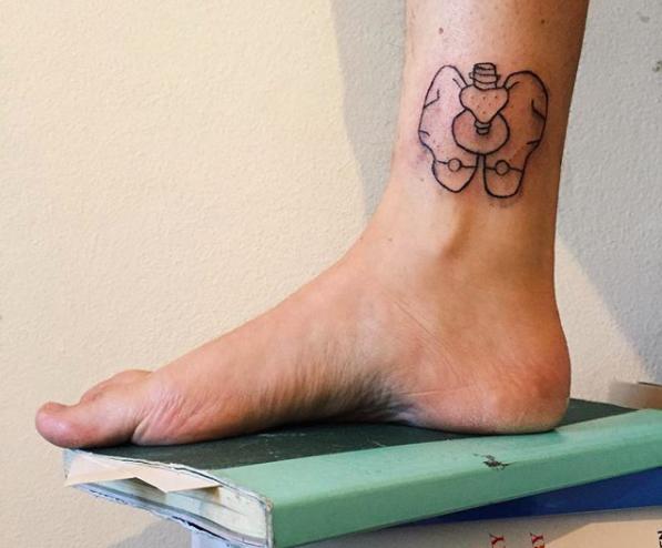 abbey's tattoo on sam