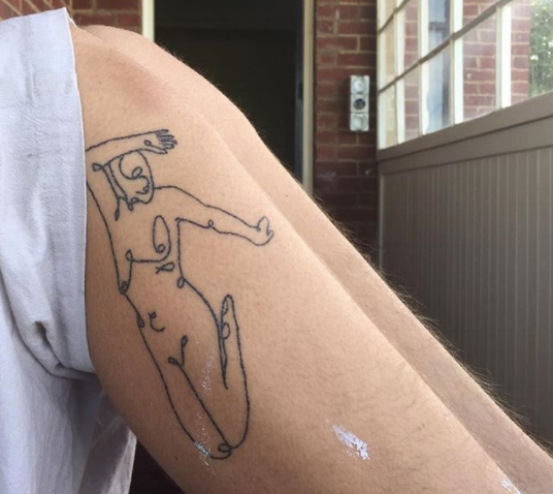 sam's tattoo on abbey