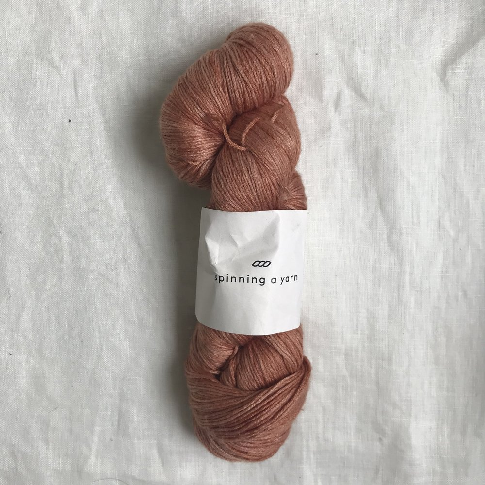 a gorgeous skein of handdyed merino/silk from podcast guest and absolute sweetie Olive