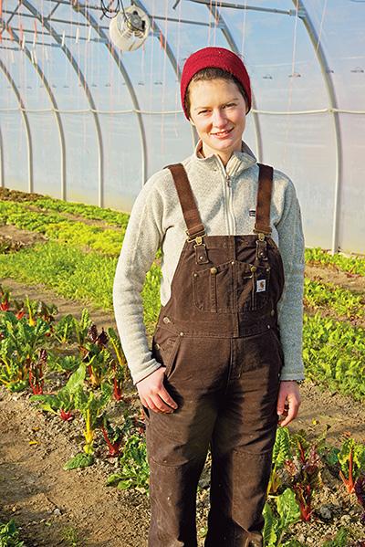 Lydia Ryall of Cropthorne Farm.   Photo: Debra Stringfellow