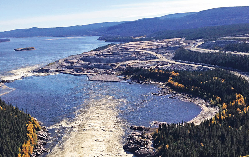 The aerial view of Muskrat Falls looking downstream conveys a sense of the project's vast potential – it will power homes and businesses across Newfoundland and Labrador. SUPPLIED