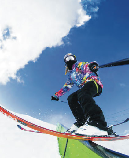 Athletes like slopestyle skier Kaya Turski make up a substantial portion of GoPro's fan following.   gopro