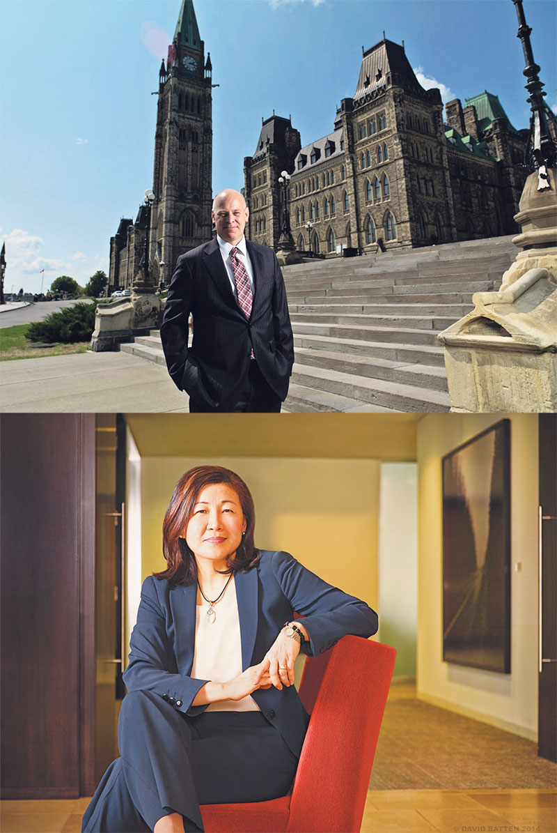 Mining Association of Canada president and CEO Pierre Gratton and   Gowlings partner Jenny Chu Steinberg say the mining sector needs further easing of regulations.   top, supplied; bottom, David Batten