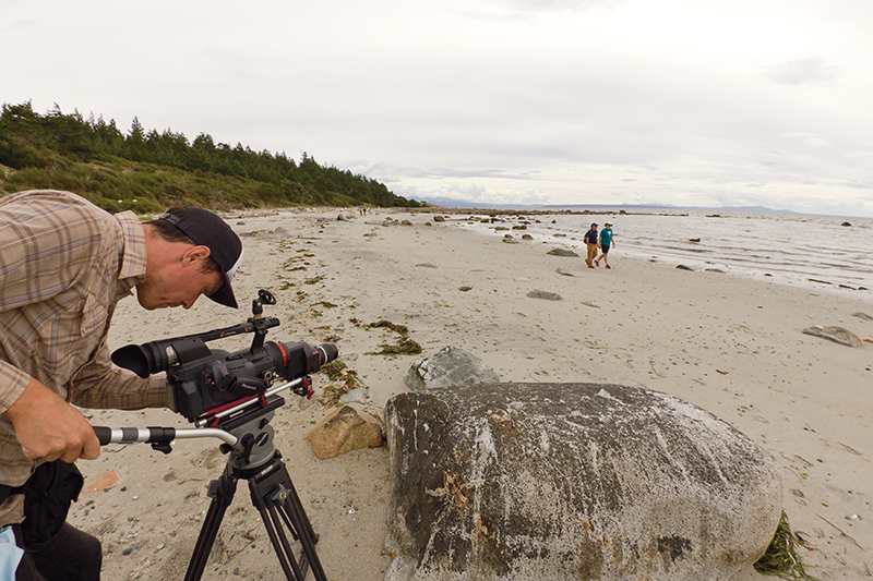 Filmmaker Mike McKinlay (pictured above) and naturalist Rob Butler (top left) are documenting the unique culture, delicate environment and intriguing wildlife of the region spanning Nanaimo south to the San Juan Islands. Photos: George Faulkner
