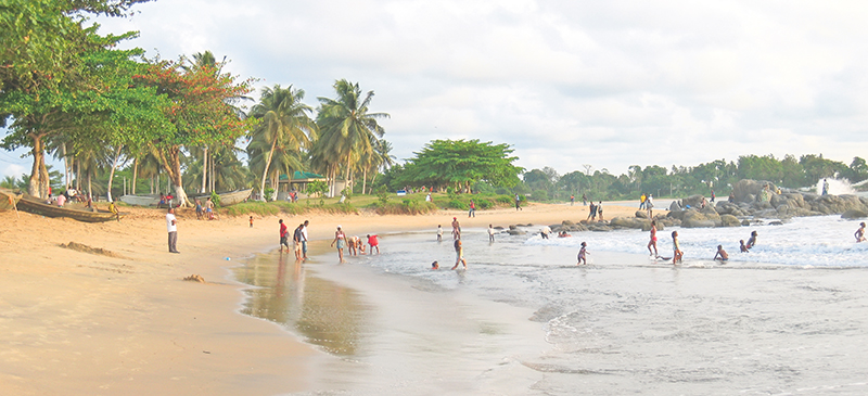 Cameroon beach. Supplied