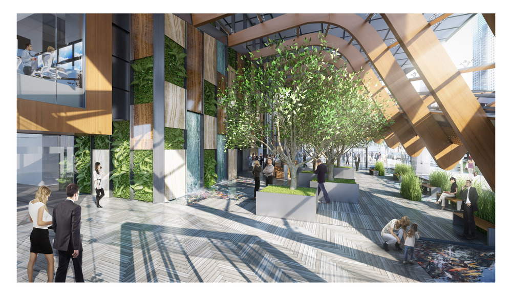 Every aspect of the TELUS Garden project has been designed with sustainability in mind. supplied