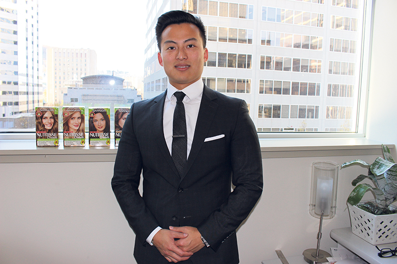Keon Zhang, group product manager for the Garnier Haircolour brand at L'Oréal Canada, says great people plus a vibrant work atmosphere, training and skills development and employee perks are among the reasons he has chosen to build his career with the company. supplied