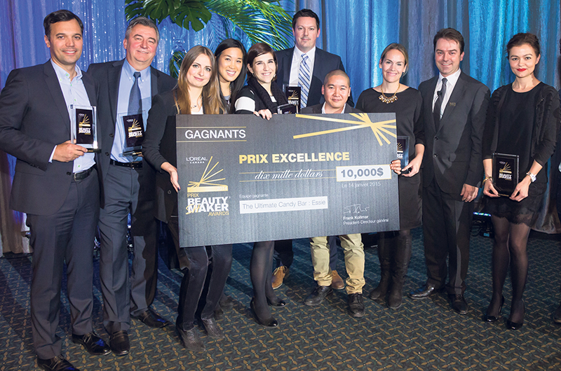 """The winning team from the 2014 Beauty Shaker Awards earned a $10,000 cheque and recognition for its clever """"Ultimate Essie Candy Bar"""" project, which boosted product sales among major retailers. supplied"""
