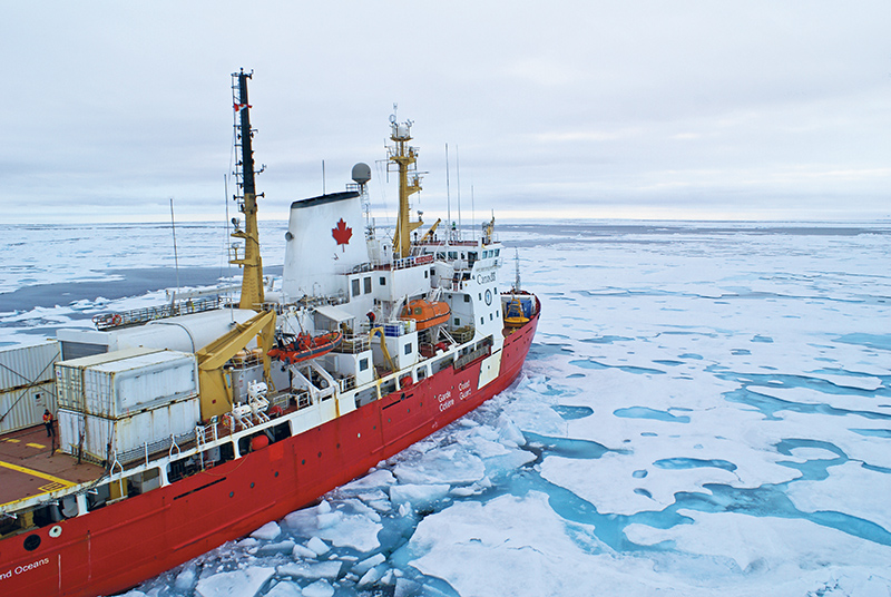 The Amundsen holds numerous internal and external laboratory spaces and an impressive array of instruments that allow it to complete research assignments in addition to its icebreaking duties for the Canadian Coast Guard. Martin Fortier/ArcticNet