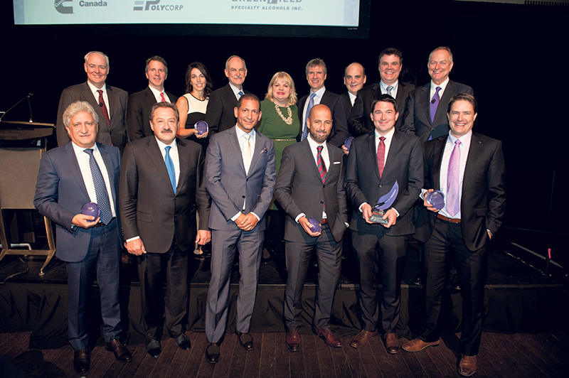 Representatives from all 10 finalists for the 2015 Private Business Growth Award joined together in a group photo. IMAGE COMMISSION