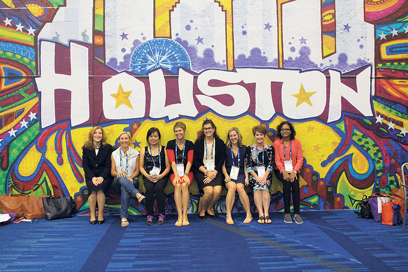 OpenText's delegation to the 2015 Grace Hopper Conference, including Marie-Eve Racicot (second from left), came away inspired to mentor the next generation of women in technology. OPENTEXT