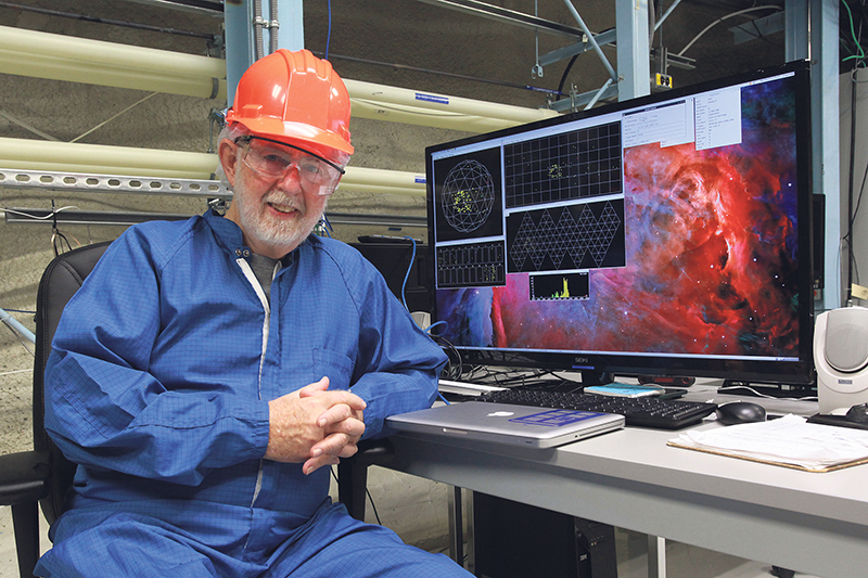 One of the examples of Canadian research that has had a big global impact was the discovery by Dr. Arthur McDonald, particle physicist and professor emeritus at Queen's University, that neutrinos (subatomic particles) do have mass. Dr. McDonald won the Nobel Prize in Physics in 2015 for his work. Bernard Clark and Queen's University