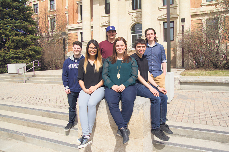 Since 1985, graduates of the University of Manitoba's ENGAP have joined the ranks of Canada's indigenous engineers (clockwise fromleft are 2017 graduates Mario Phaneuf, Alex Simard, Michael MacCarthy, Kyle Monkman, Katrine Levesque and Alicia Hill). supplied