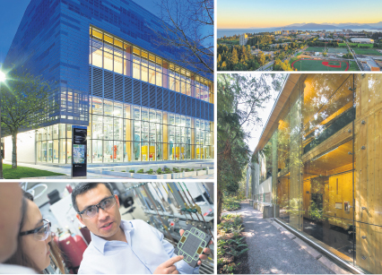 When it comes to sustainability, UBC is leading by example: greenhouse gas emissions are down, even while the campus has grown in student numbers and infrastructure. supplied