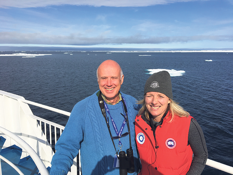 NCC President and CEO John Lounds and Minister of Environment and Climate Change Catherine McKenna participated in a Students on Ice expedition this summer, which visited Tallurutiup Imanga/Lancaster Sound. Courtesy, Students on Ice Foundation