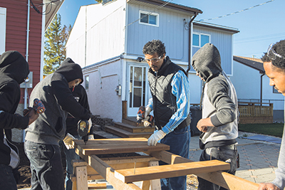 Red River College's Pathway Program to Construction Skills provides newcomers like Alazar Elyas with the opportunity to enhance their English language skills and gain practical hands-on experience. red river college