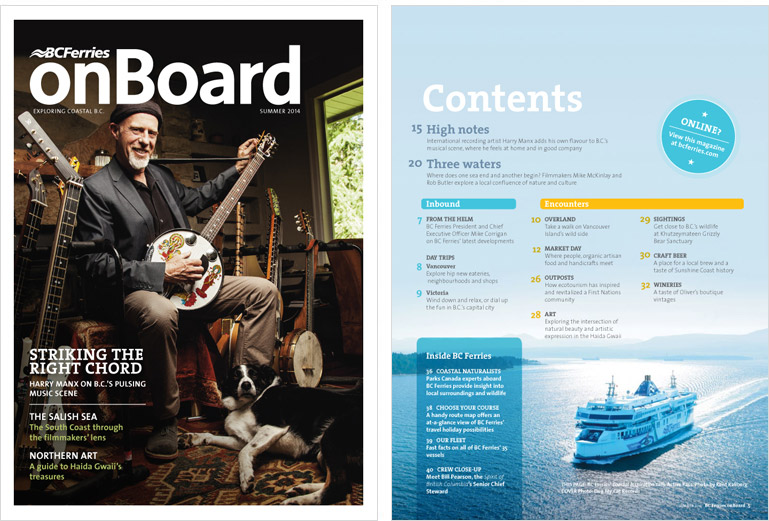 BC Ferries onBoard magazine