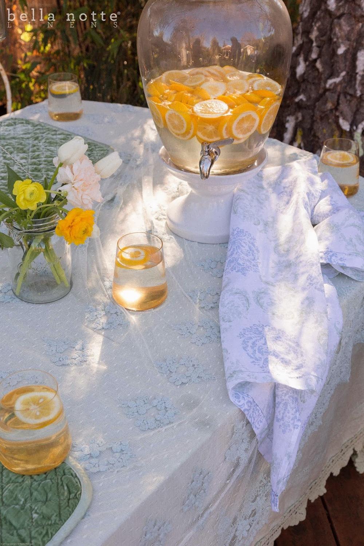 Mint Olivia Lace Tablecloth