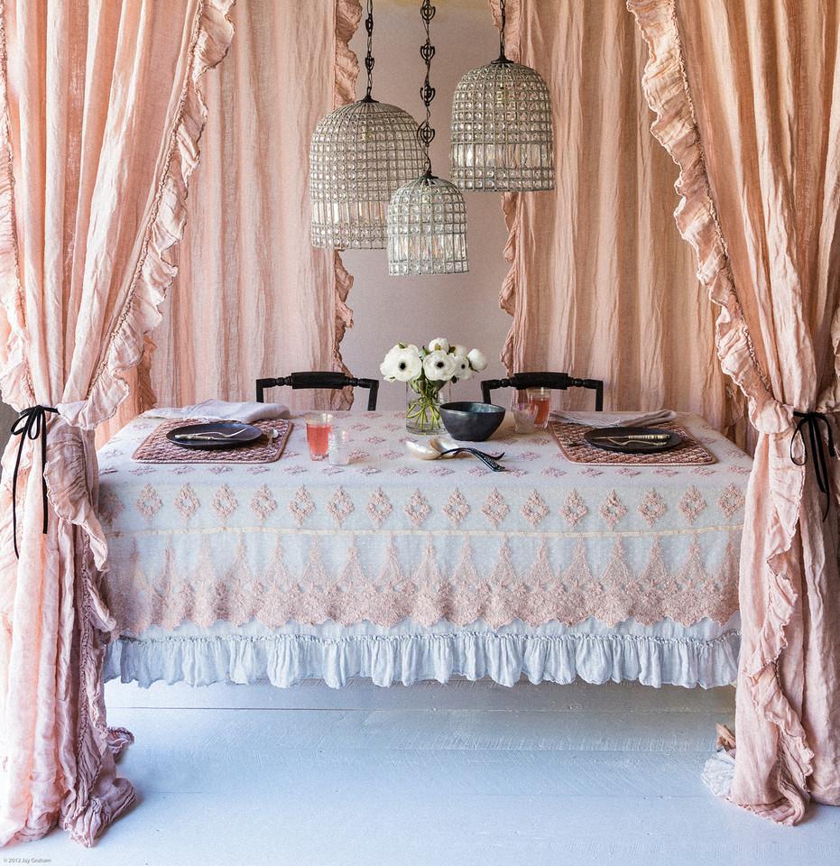 Perfect Peach Table Setting