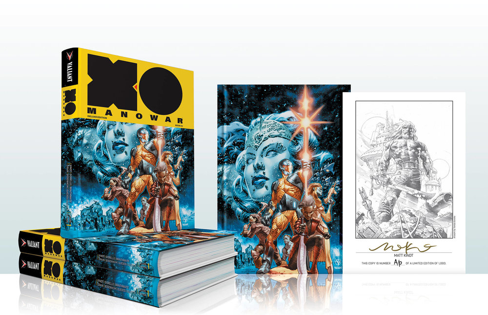 X-O Manowar Deluxe Hardcover SIGNED by Matt Kindt