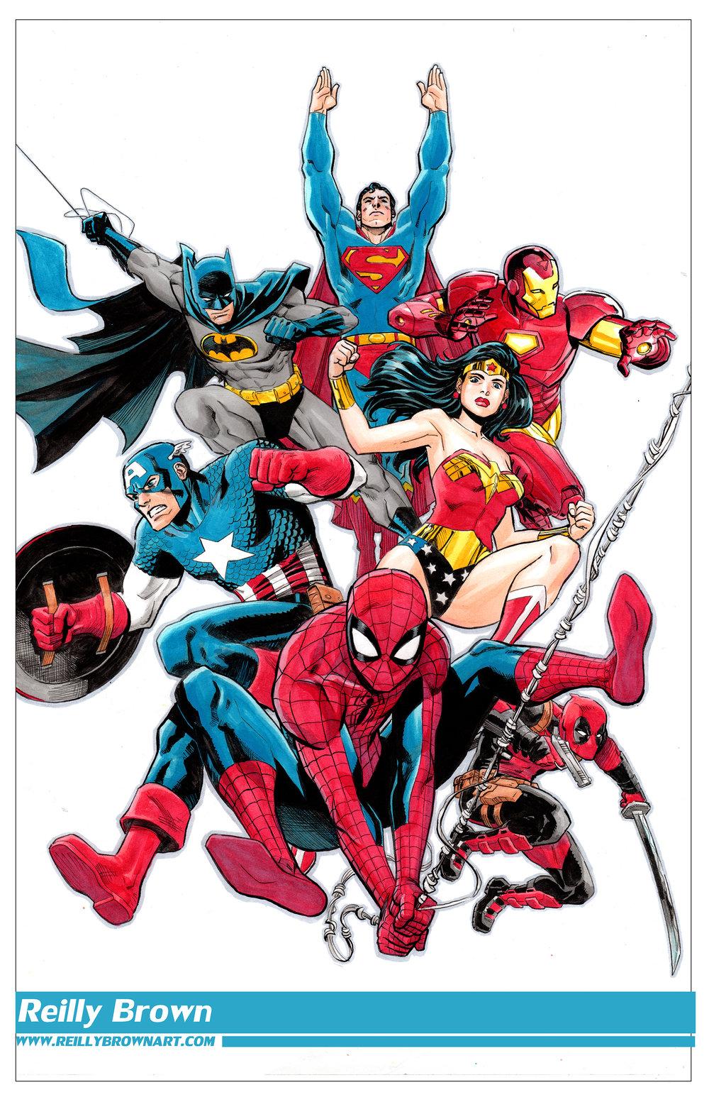 Reilly Marvel & DC