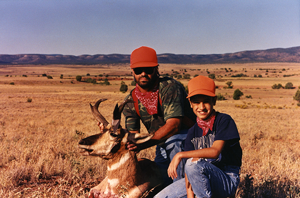 Dad and I with Pronghorn