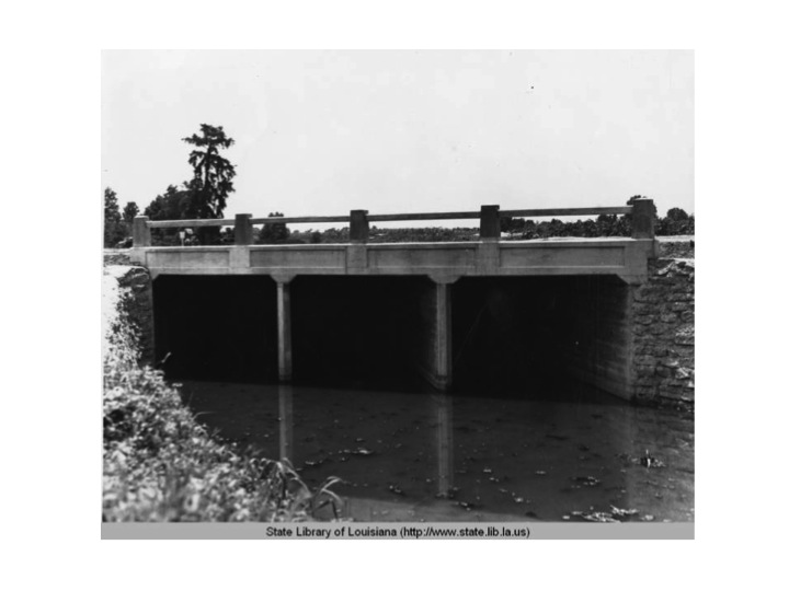A storm sewer built by the Works Progress Administration allowed for the creation of land that would become sorority row. The picture was taken in 1937.