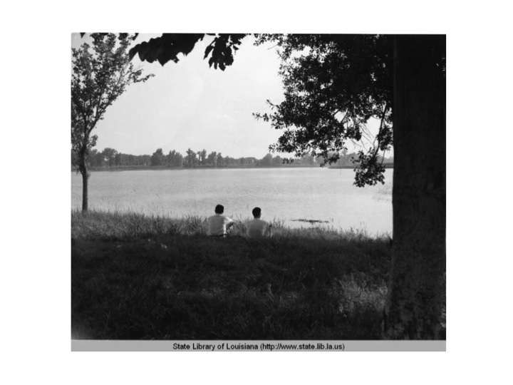 The lakes in Baton Rouge in 1937,