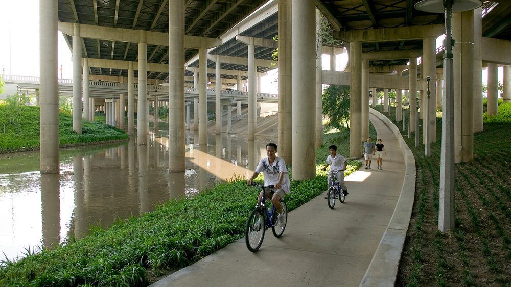 Buffalo Bayou Promenade in Houston