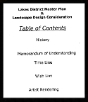 Lakes District Master Plan: A scope of work for an earlier master plan for improving and managing the lakes area.