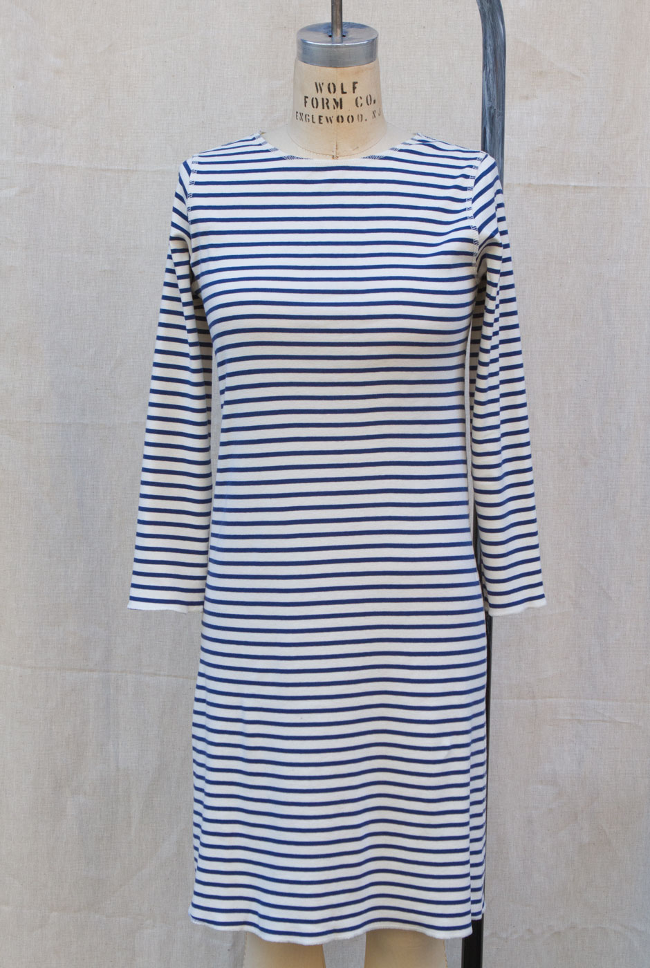 f7eaa9c46d1 STRIPE T DRESS - NATURAL with NAVY STRIPES — Sailor Rose