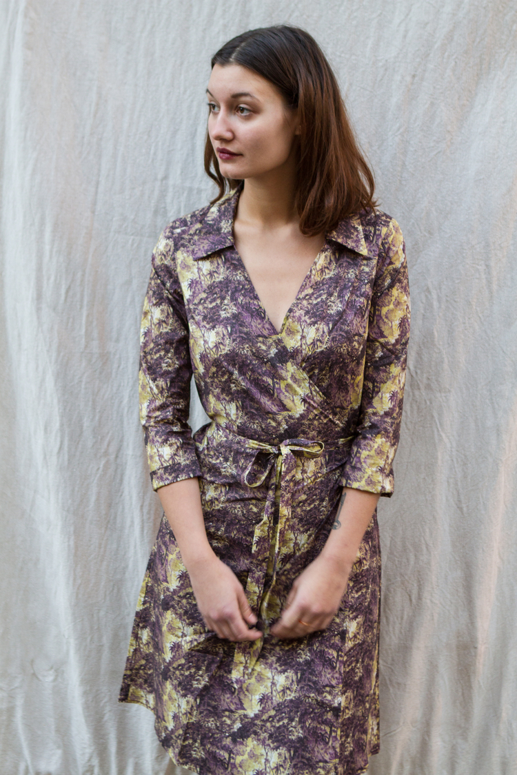 eadbc58b759 WRAP DRESS in LIBERTY FABRIC WILDERNESS PRINT size M and L — Sailor Rose